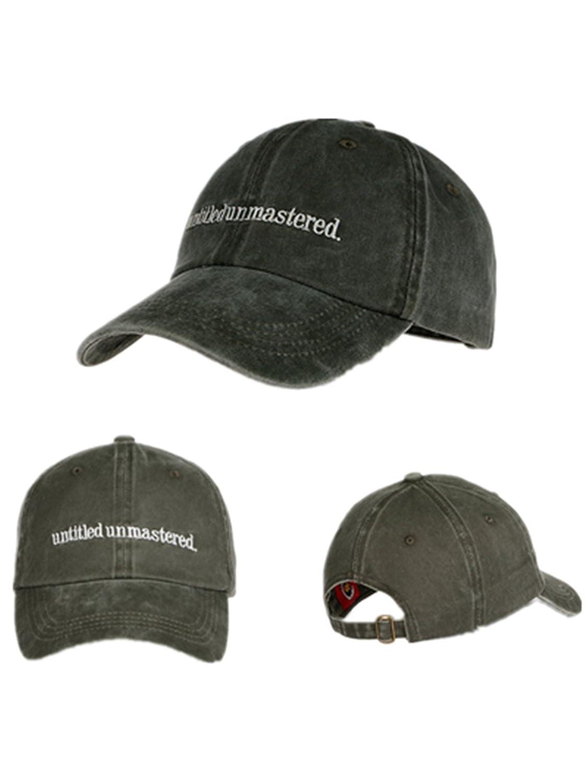 773c0519fa Amazon.com  TOODOO Untitled Unmastered Embroidery hip hop Dad Hat Rap Brand Baseball  Cap (gray)  Clothing