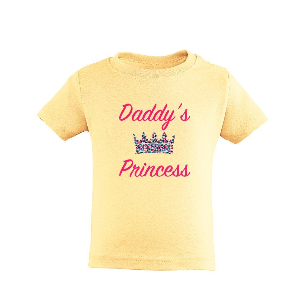 Apericots Cute Daddys Princess Girls Design With Adorable Tiara Toddler Tee Shirt