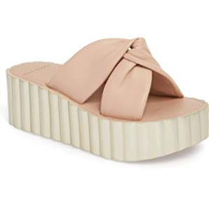 bce533f89 Tory Burch Women s Knotted Scallop Wedge Leather Goan Sand