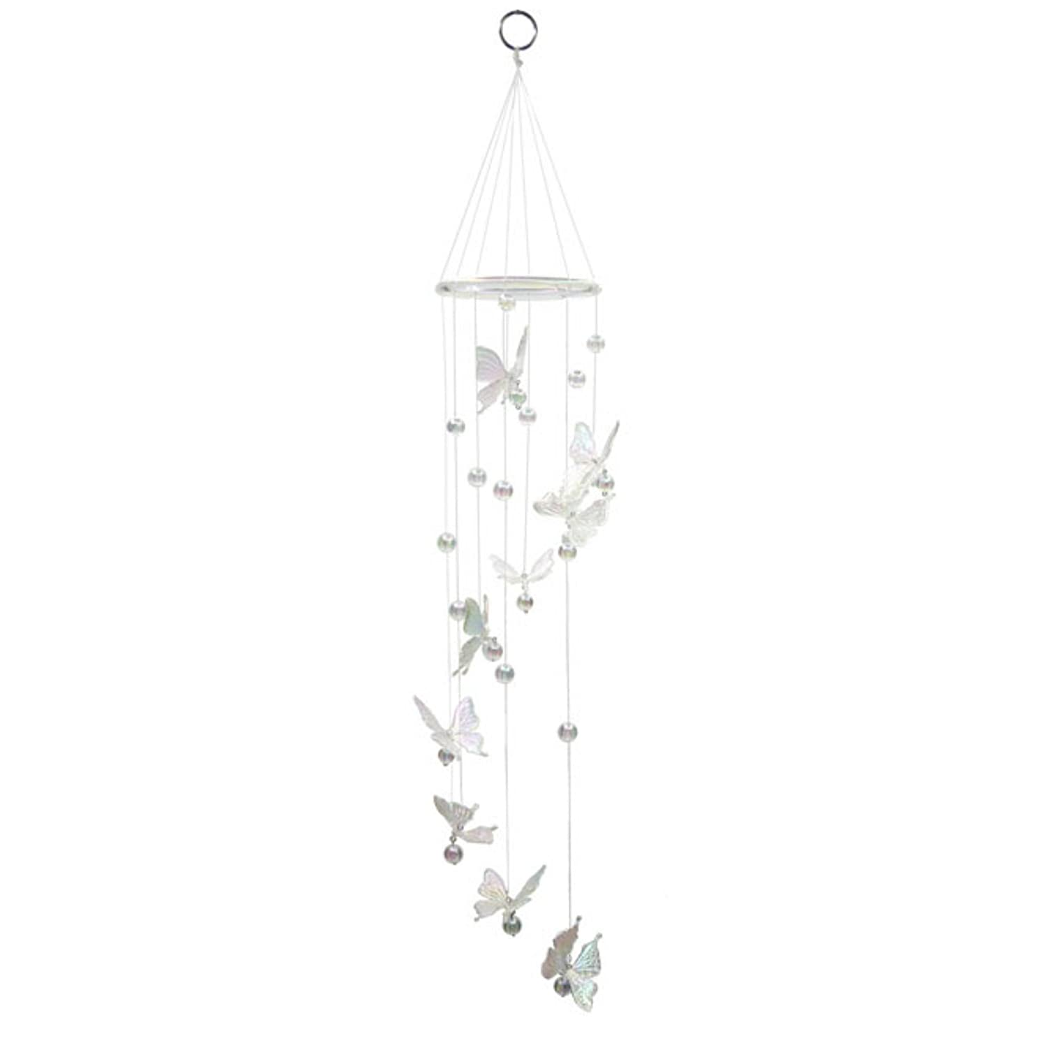 Hanging Mobile Spiralling Butterfly Garden Chime With Bells Jones Home And Gift