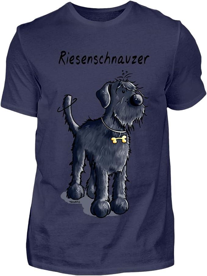 Drolliger Schnauzer Comic - Camiseta para hombre: Amazon ...