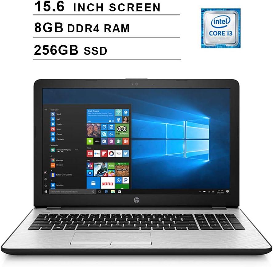 2020 Premium HP 15 15.6 Inch HD Laptop (Intel Dual Core i3-7100U 2.4 GHz, 8GB DDR4 RAM, 256GB SSD, Intel UHD Graphics 620, WiFi, HDMI, Bluetooth, Windows 10) (Silver)