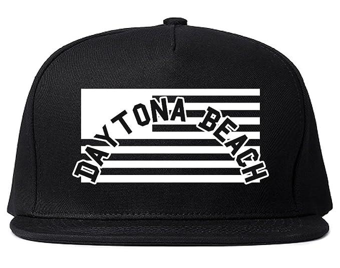0554080ed City Of Daytona Beach with United States Flag Snapback Hat Cap Black ...