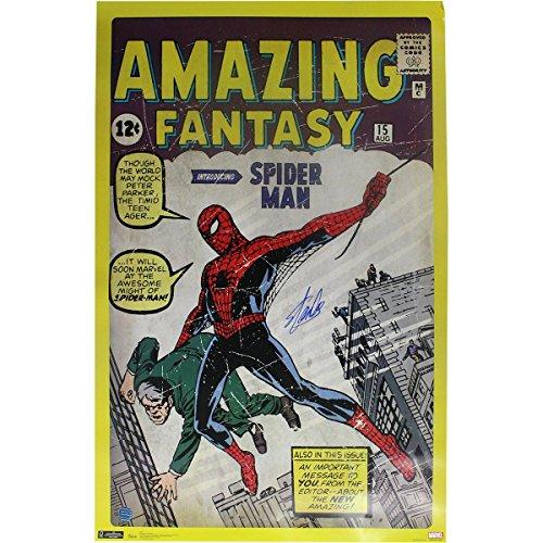 - Stan Lee Amazing Spider Man 24x36 Poster ( Stan Lee Auth)