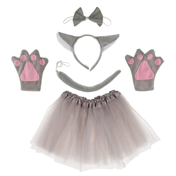 Amazon.com: Baoblaze 5pcs/Set Girls Kids Animal Costume Wolf ...