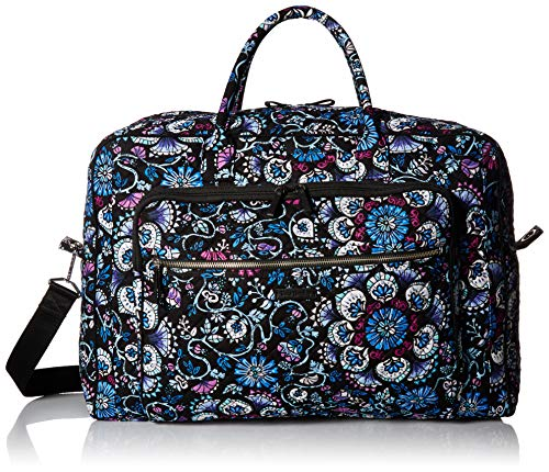 Vera Bradley womens Iconic Grand Weekender Travel Bag, Signature Cotton, Bramble, One Size
