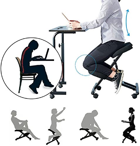 Massage Ergonomic Steel Kneeling Chair Posture Thick Cushion Seat Office and Home Rolling Adjustable 29 -21