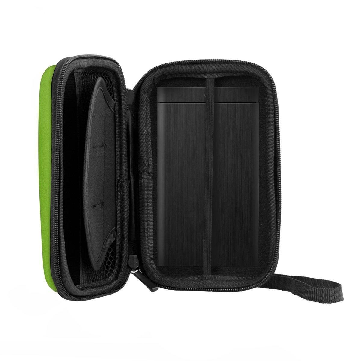 REFURBISHHOUSE Pochette de Transport Boitier de Disque Dur Housse Externe pour Disque Dur USB 2.5 Pouce Vert