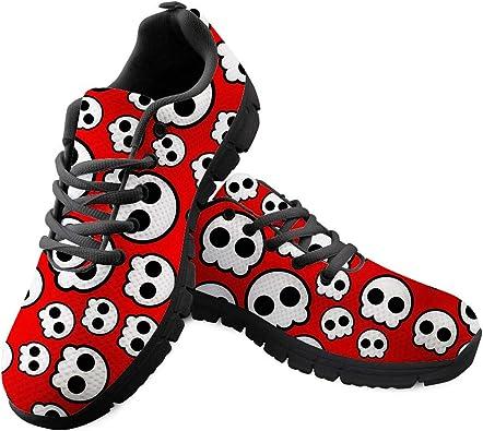 Gopumchy - Zapatillas de Running para Hombre, diseño de cráneo ...