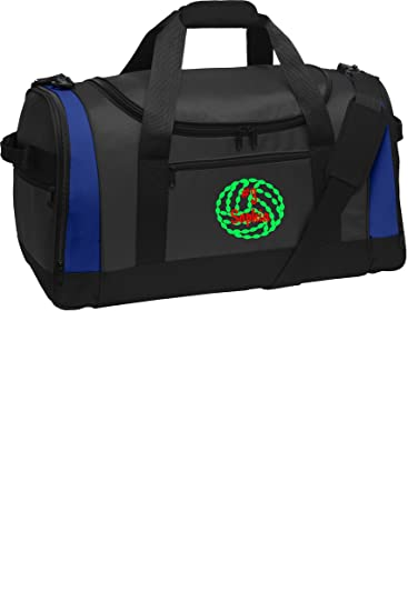 Heavy Duty Shoulder Bag with Customizable Embroidered Monogram Design Personalized Volleyball Sports Bag with Custom Text Dark Grey//Black//Black