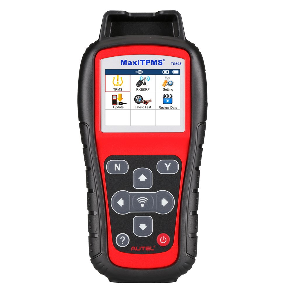 Autel MaxiTPMS TS508 with Free Screen Wiper Relearn Tool TPMS Programming TPMS Reset Sensor Activation Key Fob Testing Relearn by OBD Tire Type//Pressure Selection Advanced TS408
