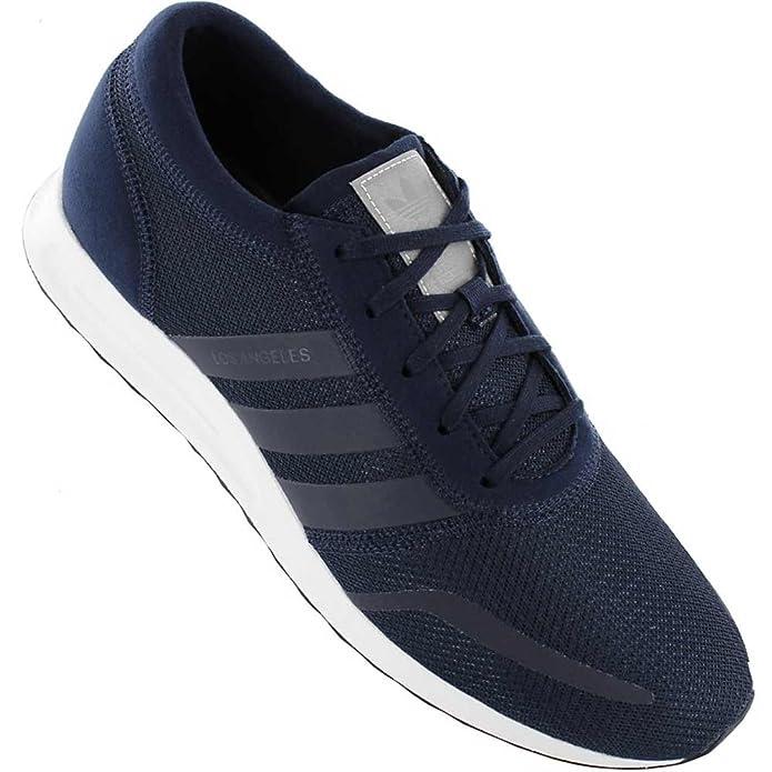 adidas Los Angeles Schuhe Herren blau m. blauen Streifen (Dunkelblau)