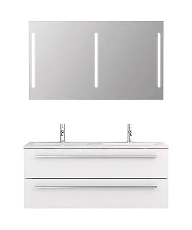 Badmöbel-Set Libato - 120 cm breit - Weiß Hochglanz ...
