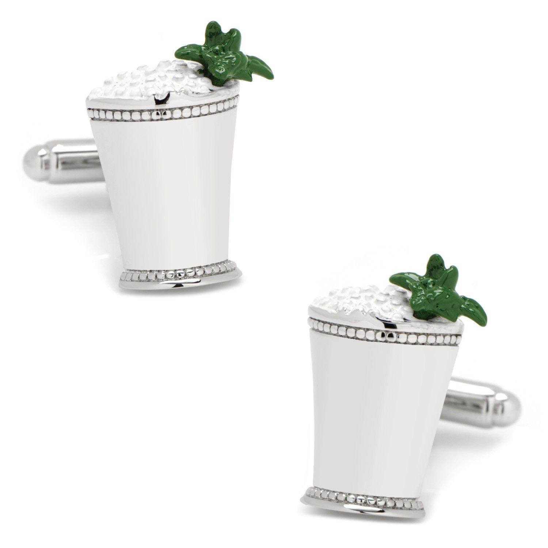 Men's Mint Julep Summer Cocktail Derby Cufflinks