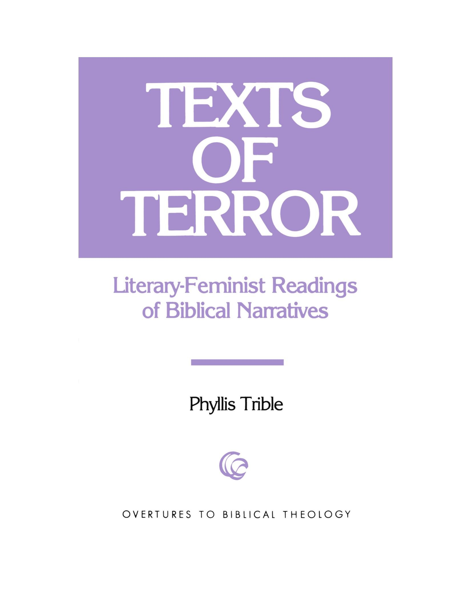 Download Texts of Terror Paper (Overtures to Biblical Theology) pdf