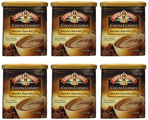 - Land O Lakes Cocoa Classics Supreme Chocolate Hot Cocoa Mix, 14.8 Ounce - 6 per case.