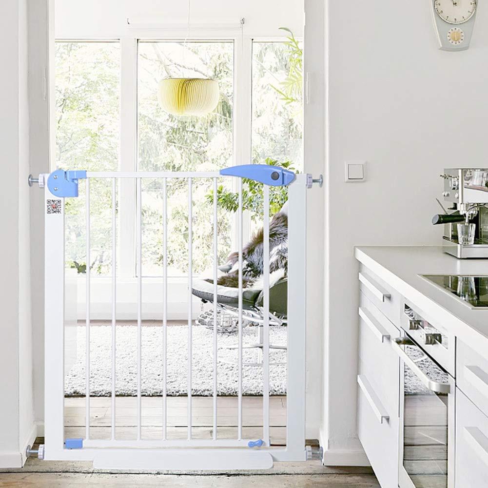ベビーゲート 階段の手すりのための特別に広い赤ん坊の門、散歩道のドアが付いている圧力適合の金属ペット犬のゲート、幅75-201cm幅、高さ76cm (サイズ さいず : 95-102cm)   B07QPBRDGN