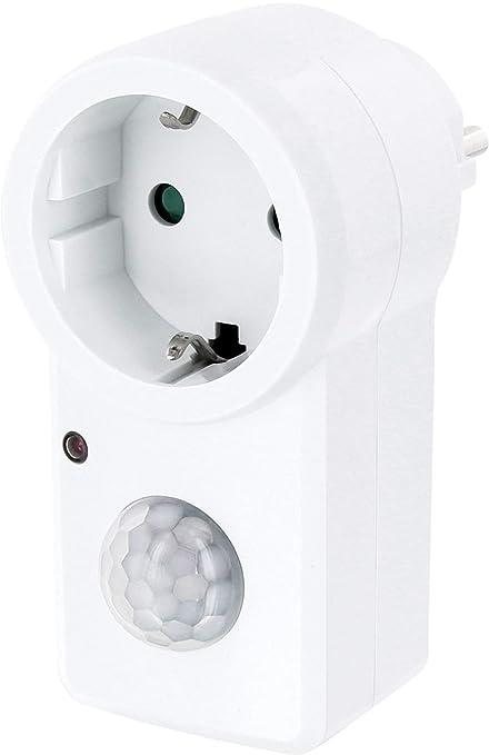 Entre Conector con detector de movimiento 120 ° + Sensor Crepuscular – Auto – On –