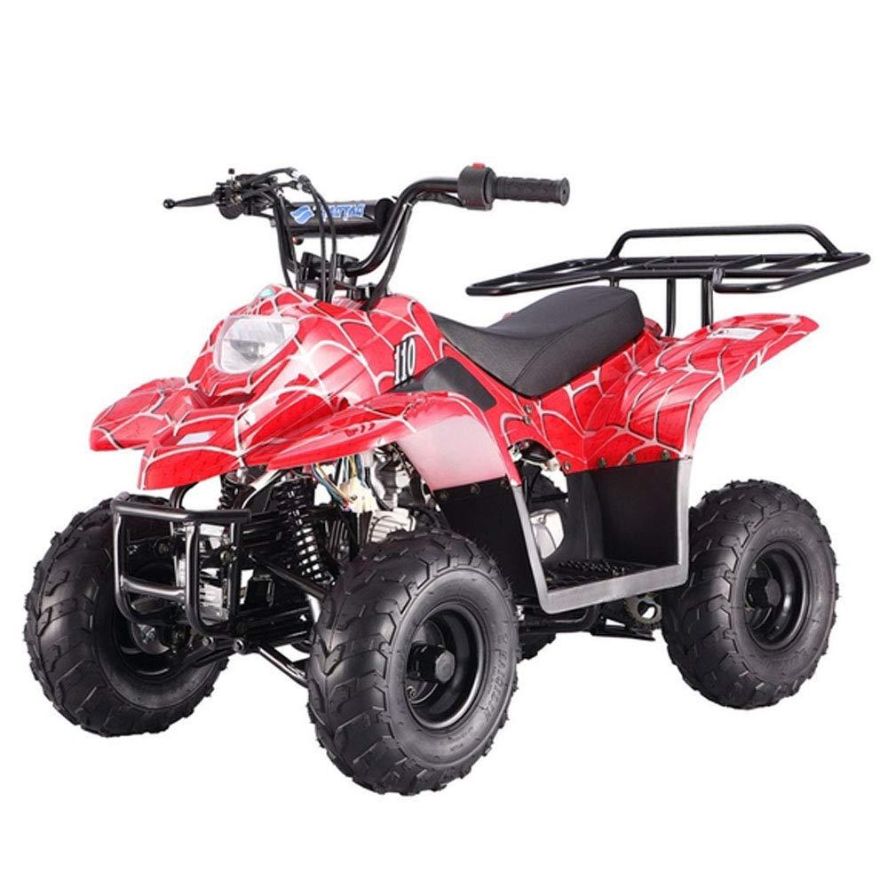 X-Pro 110cc ATV Quads Youth ATV Kids Quad ATVs 4 Wheeler with Gloves,  Goggle and Handgrip (Blue)