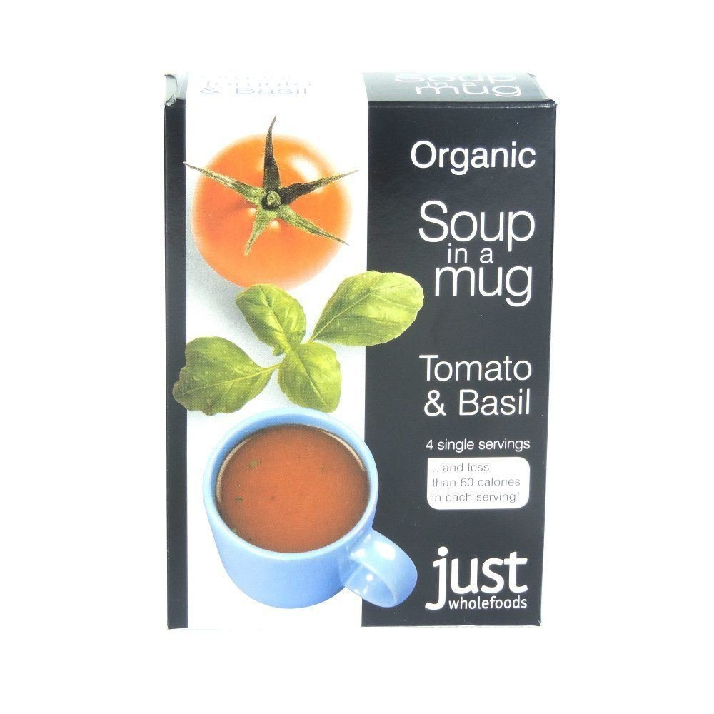 Just Wholefoods Organic Instant Tomato And Basil Soup Mix 4x17g (Pack of 4)