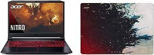 "Acer Nitro 5 Gaming Laptop, AMD Ryzen 5 4600H Hexa-Core Processor, NVIDIA GeForce GTX 1650 Ti, 15.6"" Full HD IPS Display, 8GB with Acer Nitro Mousepad"