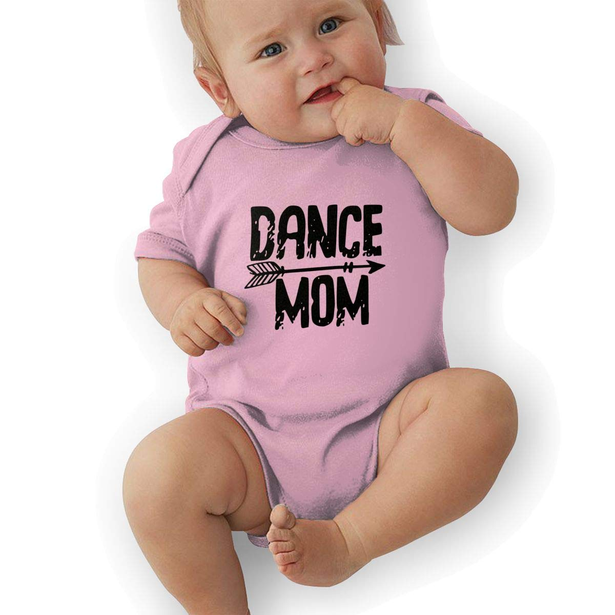 Newborn Baby Boys Bodysuit Short-Sleeve Onesie Dance Mom Print Jumpsuit Winter Pajamas