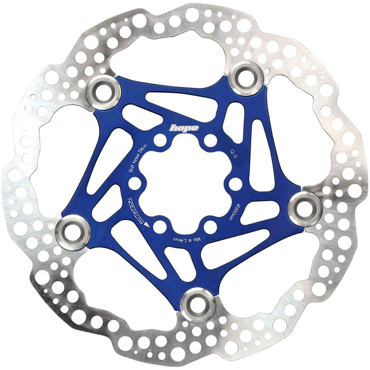 Hope Floating Disc Rotor: 160mm Blue by Hope