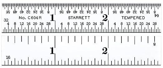Starrett C604R-48 Spring Tempered Steel Rule    IN STOCK