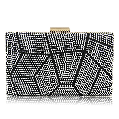 Evening Clutch Wedding Crystal Women 1 Purse Clutches Silver Party Handbags Bags CqxwCES0I