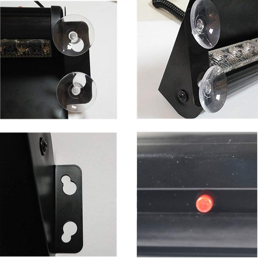 JINGBO Auto LKW Notfall Flasher Dash Strobe Warnung Licht Tagfahrlicht Flash Led Polizei Lichter 8 LEDs 3 Blinkende Modi 12V