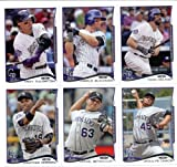 2014 Topps Series 1 Baseball Cards Colorado Rockies Team Set (9 Cards) IN 4 POCKET COLLECTOR'S ALBUM !