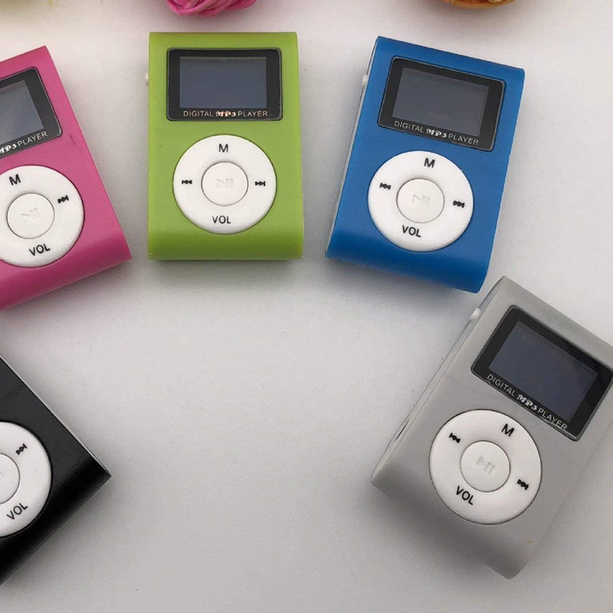 Lodenlli Reproductor de MP3 de tama/ño peque/ño Mini Pantalla LCD Reproductor de MP3 Reproductor de m/úsica Soporte para Tarjeta TF de 32GB