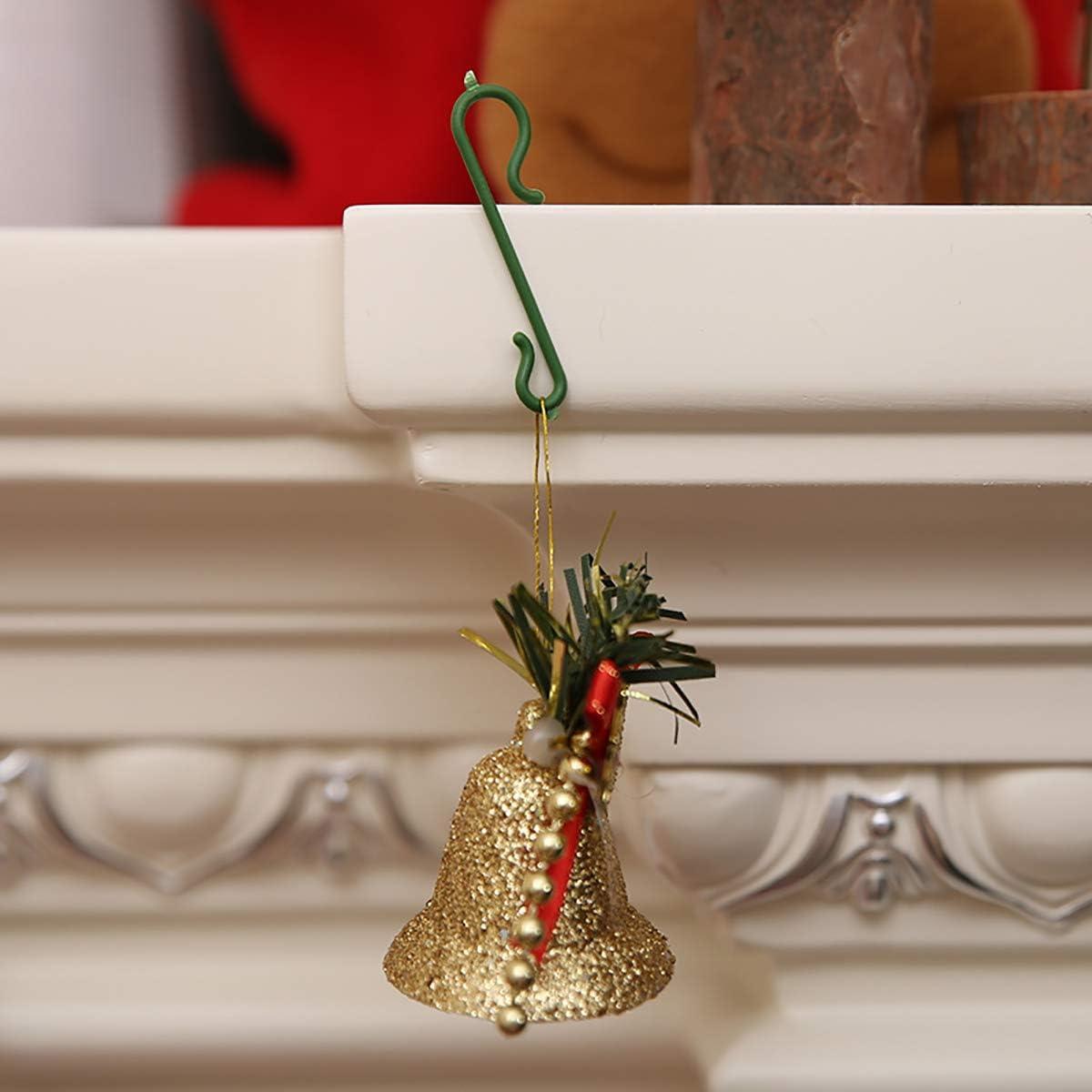Decoraciones Navide/ñas Corona de Navidad Vid de Navidad HNJKJEU Ganchos para Colgar /árboles de Navidad Verde 200 Piezas Adornos Navide/ños de Pl/ástico S Ganchos Colgantes para Bolas de Navidad