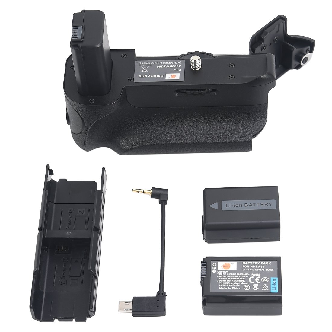 DSTE Pro VG-6300 Vertical Battery Grip + 2x NP-FW50 Battery For SONY A6300 A6000 Digital Camera