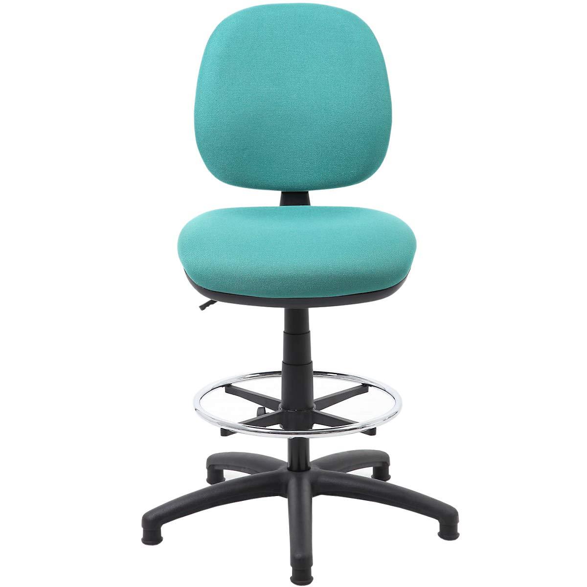 Komfort-Arbeitsdrehstuhl - Bürostuhl mit Stoffbezug - höhenverstellbarer Schreibtischstuhl - hochwertiger Stuhl mit Permanentkontaktmechanismus, grün