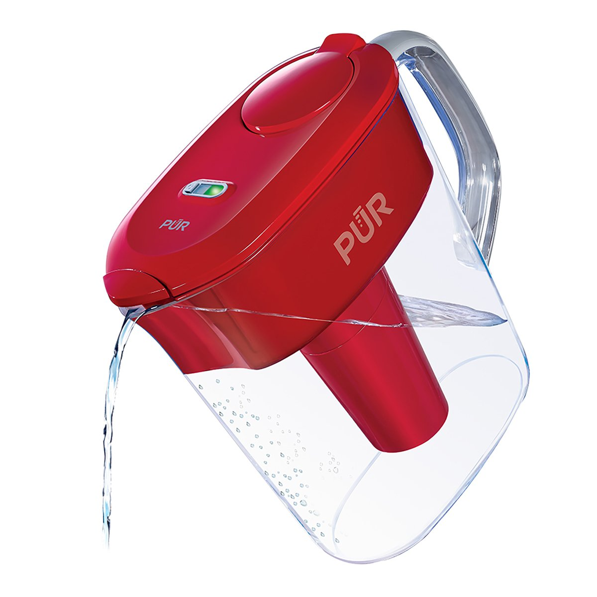 PUR 11 Cup Ultimate Pitcher with LED & Lead Reduction Filter, Red PPT111R