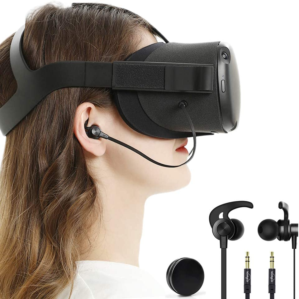 in Ear Earbuds Earphones Compatible with Oculus Quest VR Headset with Earphone Storage Box