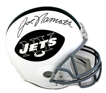 b6c1be4d9 Amazon.com  Autographed Joe Namath Helmet - TB Full Size White - Autographed  NFL Helmets  Sports Collectibles