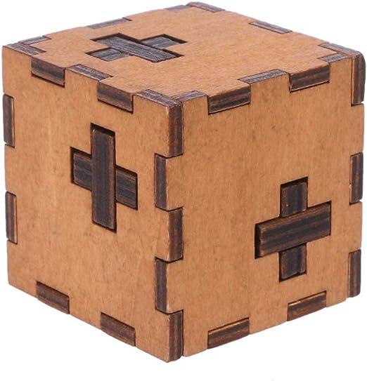 Junlinto, Suiza Cubo Caja de Madera Secreta de Rompecabezas ...