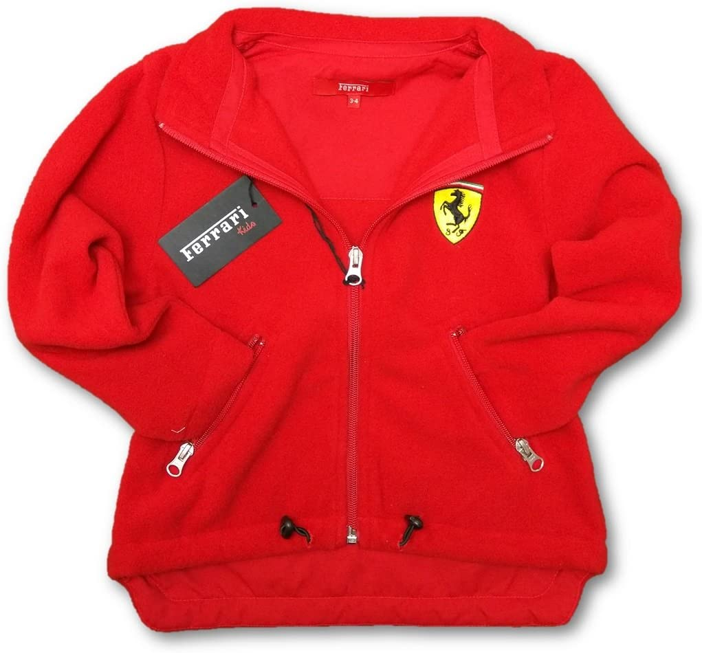 Ferrari F1/Team Enfant Rouge scudetto avant zipp/é en polaire pour femme