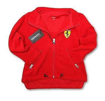 Chaqueta de forro polar con cremallera frontal, para niños, de la escudería de Formula 1 de Ferrari, Infantil, rojo, 3 años: Amazon.es: Deportes y aire ...