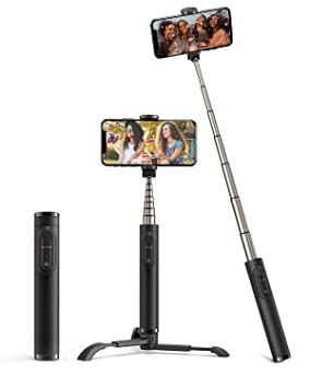 BlitzWolf Palo Selfie Trípode con Control Remoto, Selfie Stick de Aluminio Extensible para iPhone XS Max/XR/X/8/8P/7/7P/6S/6/5, Galaxy S10/9/8/7/6, ...