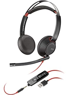 Plantronics Blackwire 5220 USB-A Headset, On-Ear Mono Headset, Wired