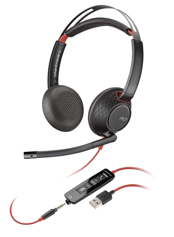 Plantronics C5220 Binaural USB und Kopfhö rer Schwarz 207576-01