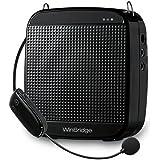 winbridge S6132.4G 18W 7.4V/1200mAh inalámbrica digital amplificador de voz con alimentación micrófono para amplificador especial para guía de viajes, profesores, entrenadores, discursos, Disfraces Negro