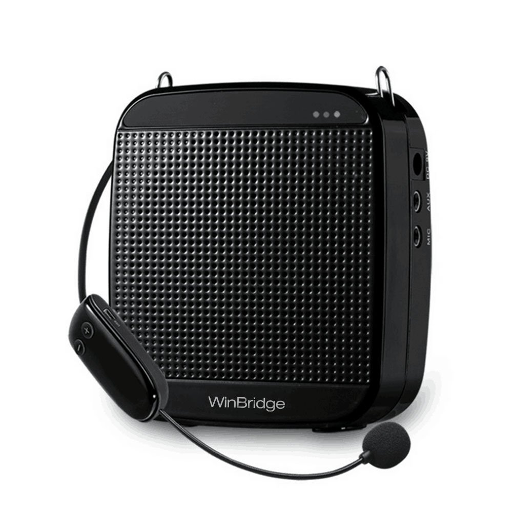 WinBridge S611 10 Watts UHF Wireless Voice Amplifer PA System Super Voice Coverage with High-end Microphone for School,Super Market,Meeting,Training etc.