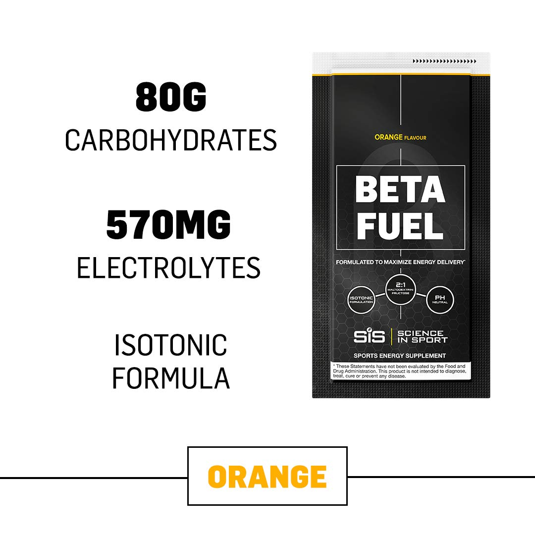 Science in Sport Beta Fuel, Endurance Energy Drink with 80g of Carbohydrates, Isotonic Sports Drink, Orange - 12 Grab and Go Sachets by Science in Sport
