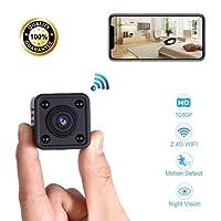 Mini Telecamera Spia WiFi | Spy Cam HD per Videosorveglianza | Micro Camera IP Nascosta Dotata di Rilevatore di Movimento e Visione Notturna - Con Live View per Iphone e Android