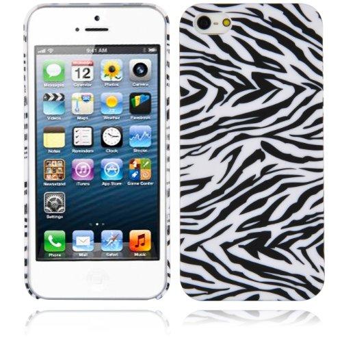 - Cadorabo - Hard Case Back Cover works with Apple iPhone 5/5S/SE – Bumper Protection Skin Design: ZEBRA