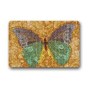 Se puede lavar a máquina Felpudo mariposa decoración de interior/al aire libre alfombra Felpudo 30(L) X 18(W) pulgadas